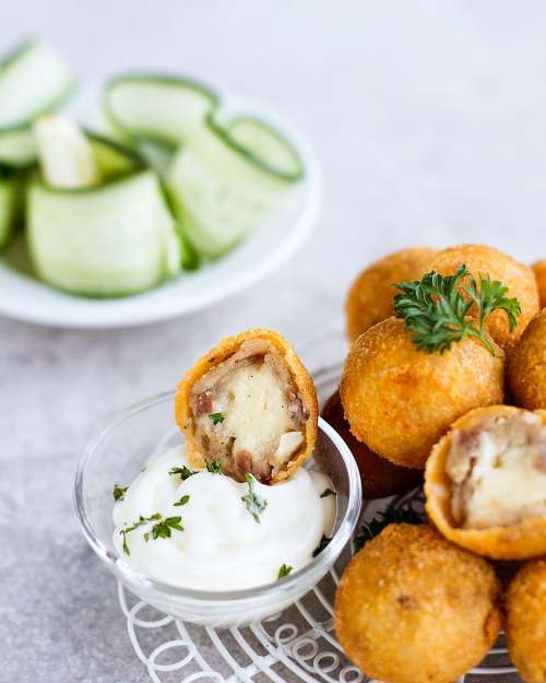 Spanish Croquette - Smoke Beef and Cheese