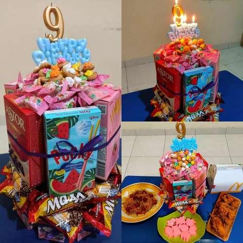 Birthday Snacks Tower