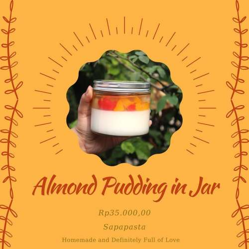 Almond Pudding in Jar