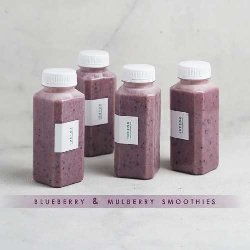 Blueberry dan Mulberry Smoothies